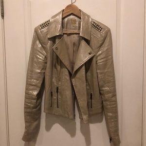Gold biker jacket by Guess, size L